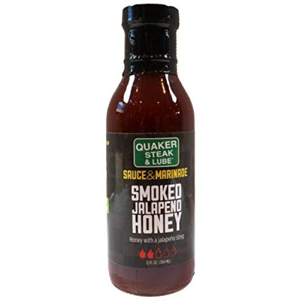 Quaker Steak and Lube Smoked Jalapeno Honey Wing Sauce - 12 Ounc...