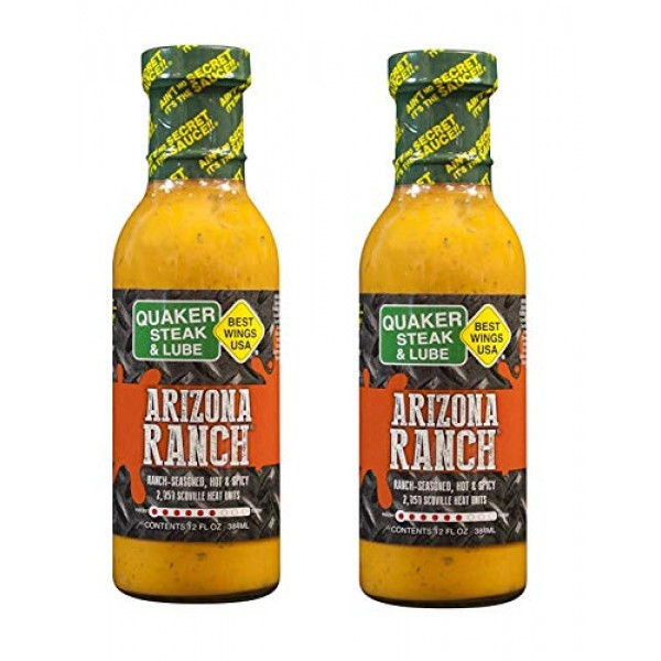 Quaker Steak and Lube Arizona Ranch Wing Sauce 2 PACK - 2 12 Oun...