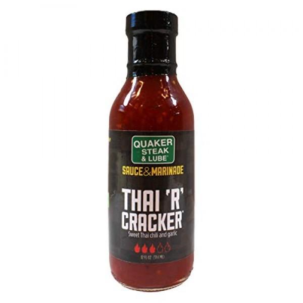 Quaker Steak and Lube Thai R Cracker Wing Sauce - 12 Ounce Glass...