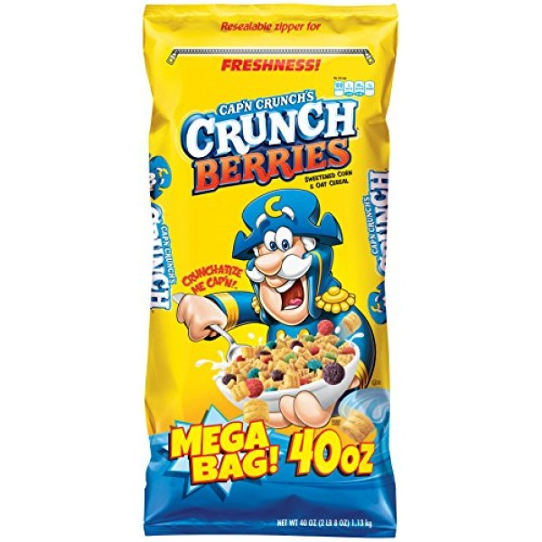 Capn Crunch Crunch Berries Breakfast Cereal, Mega Size 40 oz. B...