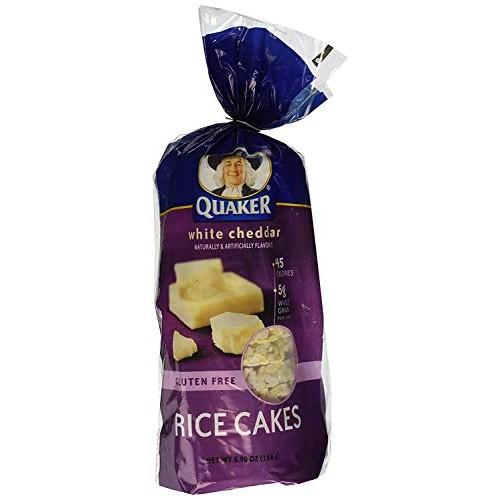 Quaker, Rice Cakes, White Cheddar, 5.5oz Bag Pack of 4