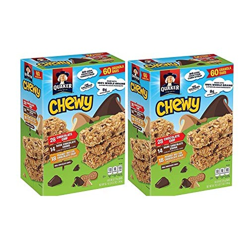Quaker Chewy Granola Bars 3-Flavor Variety Pack, (.Variety Pack ...