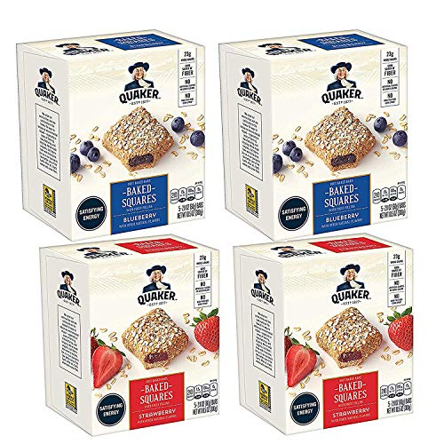 Quaker Baked Squares, Soft Baked Bars, Strawberry & Blueberry 2...