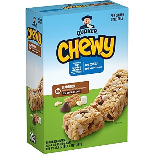 Quaker Chewy Granola Bars, Smores, 58 Pack