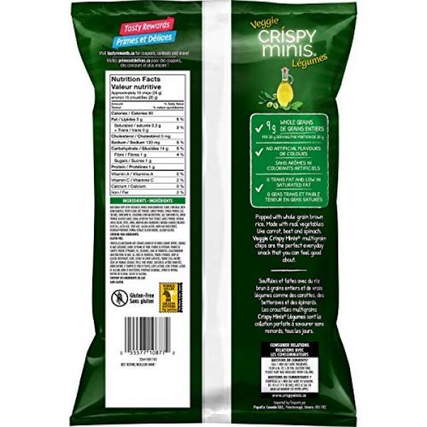 Quaker Crispy Minis Veggie Italian Herb & Olive Oil Multigrain C...