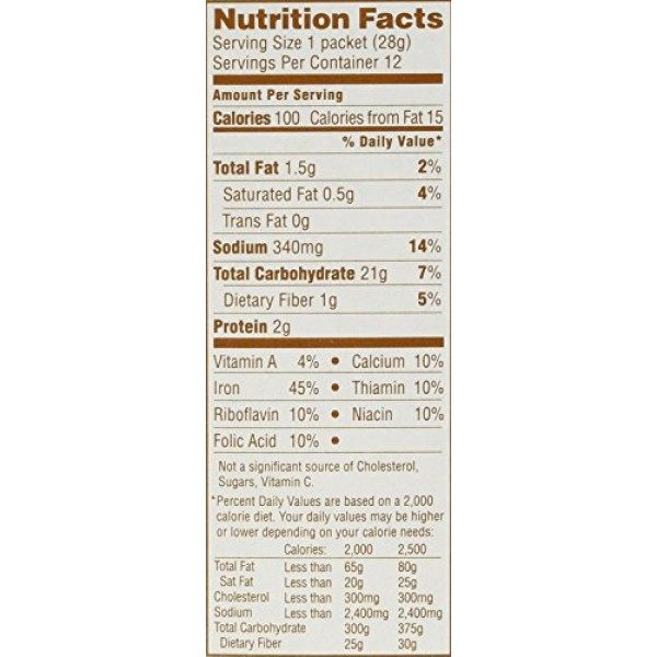 Quaker, Instant Grits, Butter Flavor, 12 Count, 12oz Box Pack o...