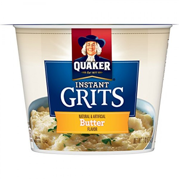 Quaker Instant Grits, Butter Flavor, Breakfast Cereal Pack of 12