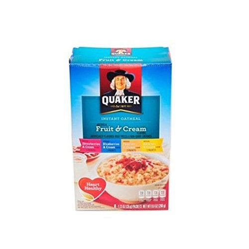 Quaker Instant Oatmeal Fruit and Cream 8-1.23 Oz Packs 2 Boxes