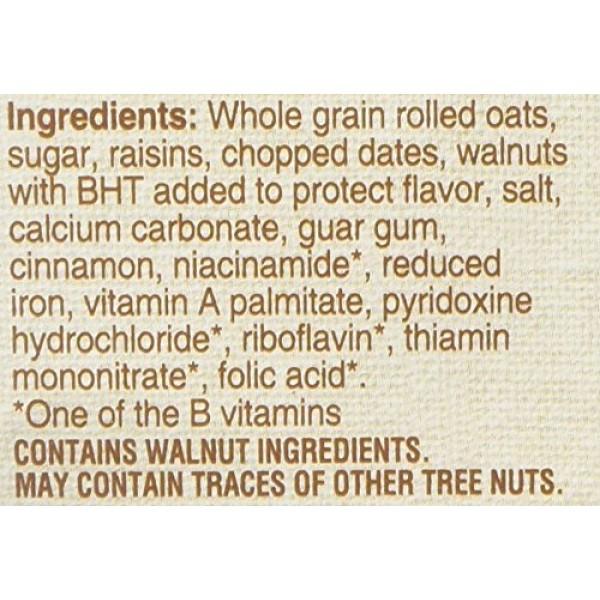 Quaker Instant Oatmeal Raisin, Date & Walnut, 10-count Boxes Pa...