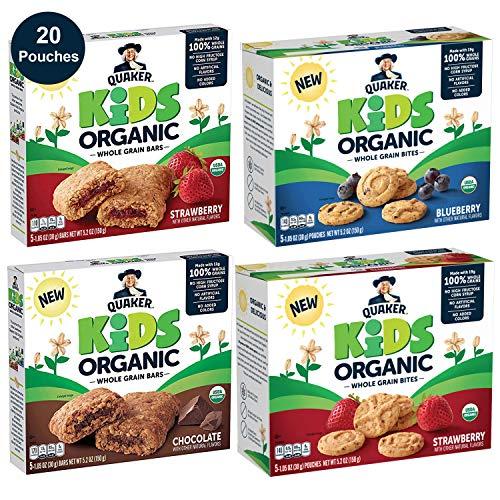Quaker Kids Organic Multigrain Bars and Bites, Sampler Pack, 20 ...