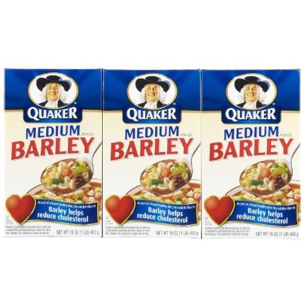 Quaker Medium Pearled Barley 16 Oz Pack of 3