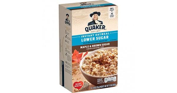 Quaker Oats Lower Sugar Instant Oatmeal