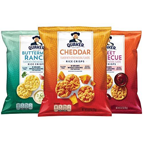 Quaker Rice Crisps, Gluten Free, 3 Flavor Savory Variety Mix, Si...