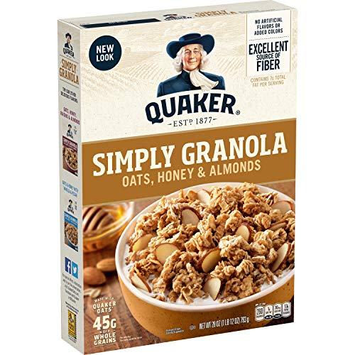 Quaker Simply Granola Oats, Honey & Almonds, Breakfast Cereal, 2...