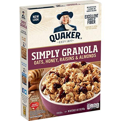 Quaker Simply Granola, Oats, Honey, Raisins and Almonds, 28 oz B...