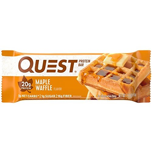 Quest Nutrition Protein Bar, Maple Waffle Pack of 12