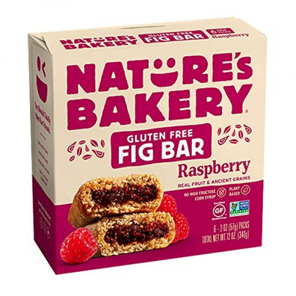 Natures Bakery Fig Bar Raspberry - 6 CT