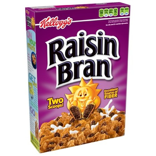 Kelloggs Raisin Bran Cereal, 18.7-Ounce Boxes Pack of 4