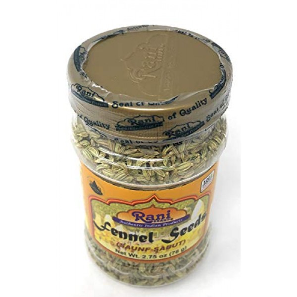 Rani Fennel Seeds Saunf Sabut Whole Spice 2.75oz 85g All Nat...