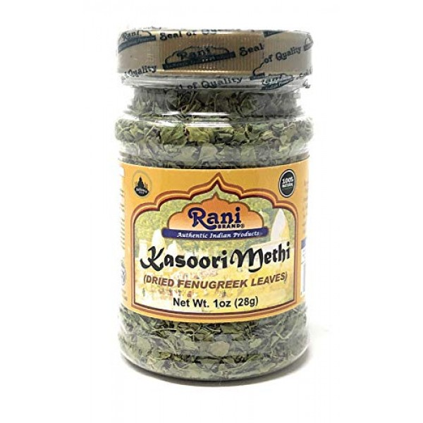 Rani Fenugreek Leaves Dried, All Natural Kasoori Methi 28g 1o...