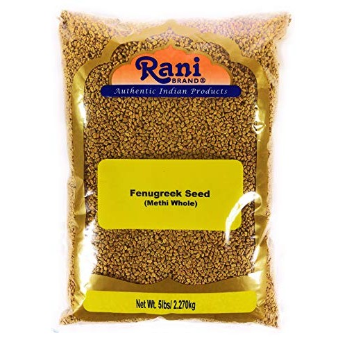Rani Fenugreek Methi Seeds Whole 5 Pound 5lbs 80oz Bulk, Tri...