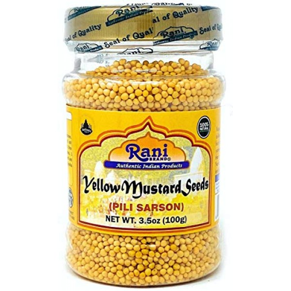 Rani Yellow Mustard Seeds Whole Spice 3oz 85g ~ All Natural | ...