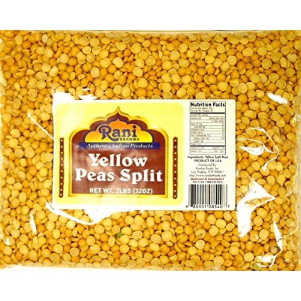 Rani Yellow Peas Split, Dried Vatana, Matar 2lbs 32oz ~ All ...