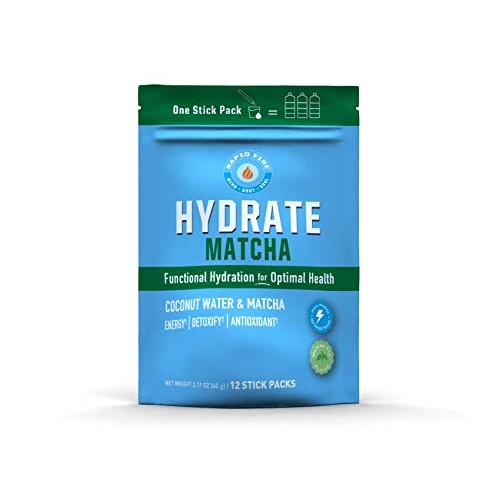 Rapid Fire Hydrate Powder, Drink Mix, Stick Packs, Coconut Water...
