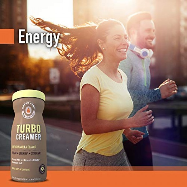Rapid fire Turbo Creamer, French Vanilla Flavor with Shot of Caf...