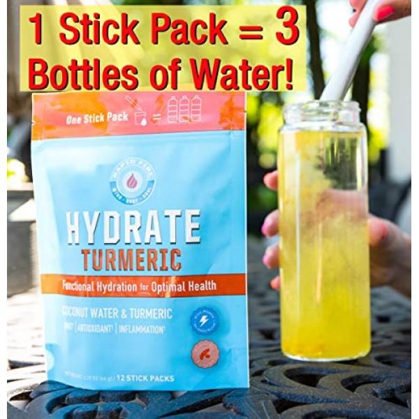 RapidFire Rapid Fire Hydrate Powder, Drink Mix, Stick Packs, Coc...