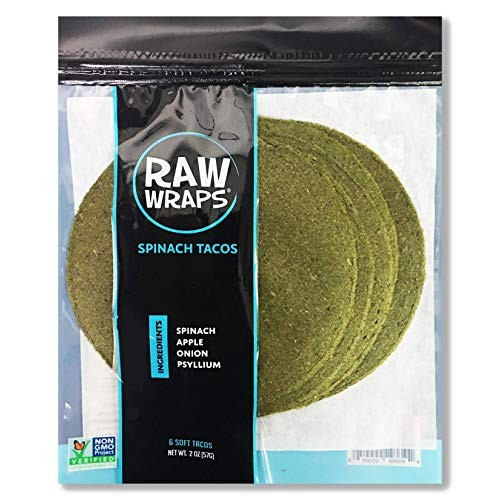 Raw Wraps Tacos Spinach, Single Bag