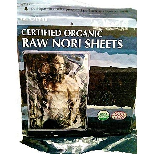Raw Organic Nori Sheets 10 qty Pack! - Certified Vegan, Raw, Kos...