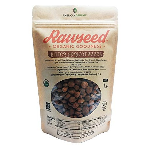 Bitter Apricot Seeds Rawseed Organic certified 1 Lb, Product of ...