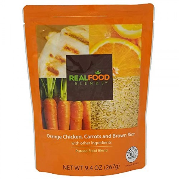 Real Food Blends Orange Chicken, Carrots & Brown Rice Pureed Ble...