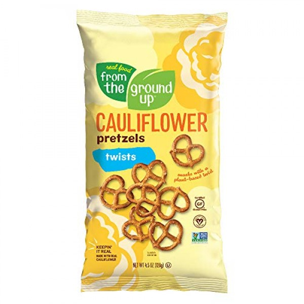 Real Food From The Ground Up Vegan Pretzels, Gluten Free, Non-GM...