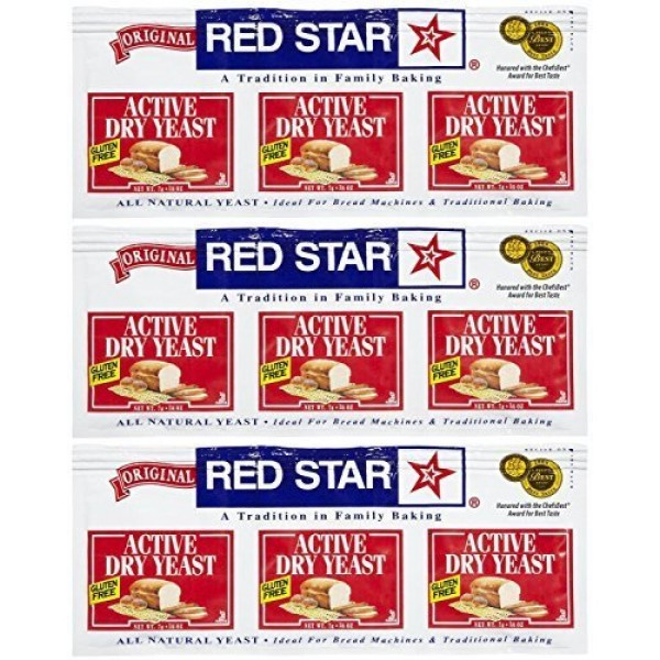 Red Star GlutenFree Active Dry Yeast, 0.75 oz, 3 ct, 3 pk by Red...