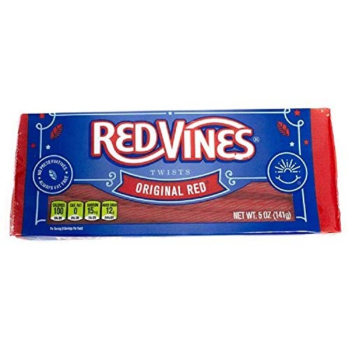 Red Vines Licorice, Original Red Flavor, 5oz Tray, Soft & Chewy ...