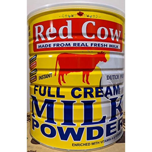 Red Cow Full Cream Milk Powder 2.5 Kg 5.5lb, Made From Real Fr...