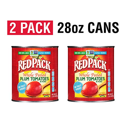 Redpack No Salt Added Whole Peeled Plum Tomatoes in Puree, 28oz ...