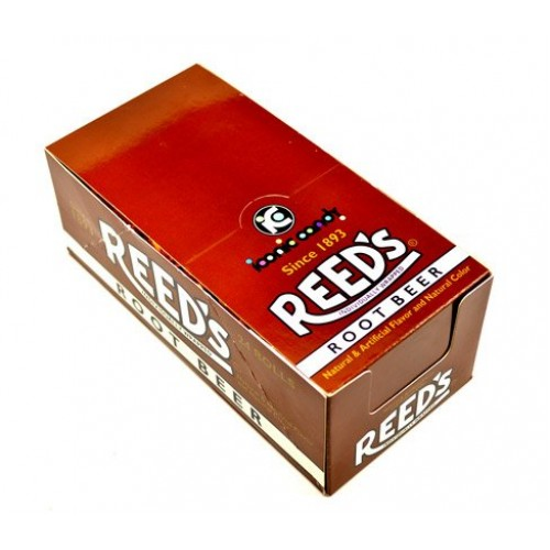 Reeds Hard Candy Root Beer Rolls - 24 / Box
