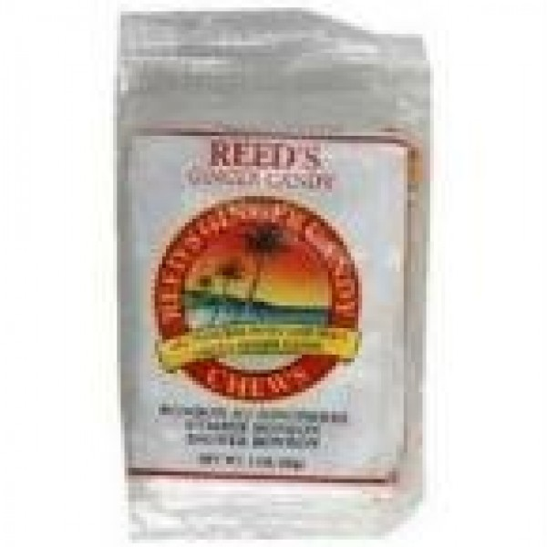 Reeds Ginger Beer 25747 Reeds Chewy Ginger Candy Rolls - 20x2 Oz