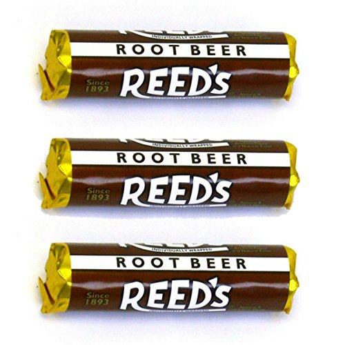 Reeds Classic Root Beer Hard Candy 3 Pack - Individually Wrappe...