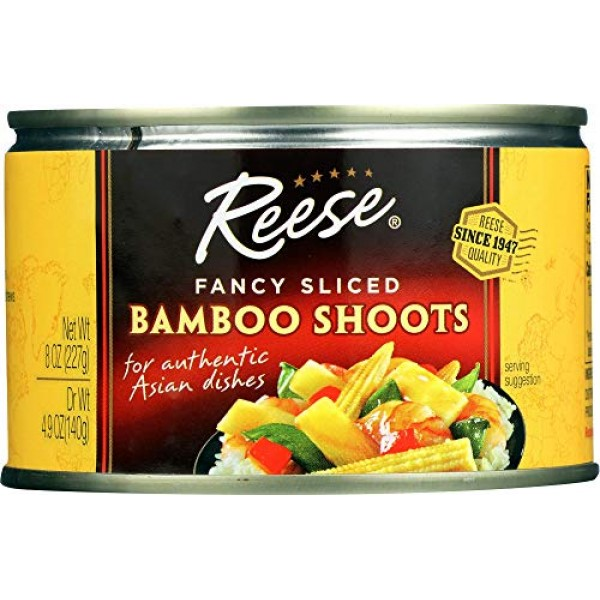 Reese Sliced Bamboo Shoots, 8-ounces Pack of12