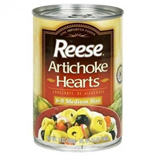 Reeses Artichoke Hearts 6-8 Medium Size 14 OZ Pack of 4