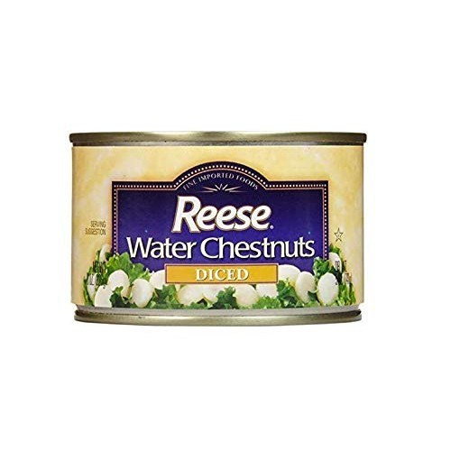 Reese Diced Water Chestnuts - 8 Ounces pack of 12
