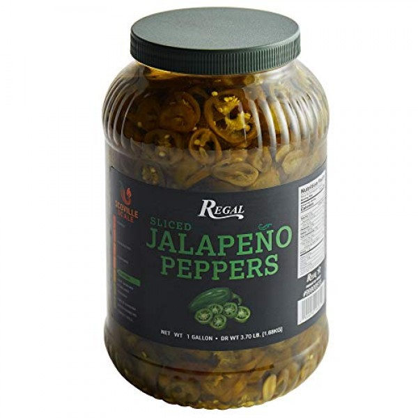 Regal Foods Sliced Jalapeno Peppers 1 Gallon