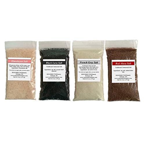 Gourmet Sea Salt Sampler: 4 X 6oz. Packages, Pink Himalayan, Fre...