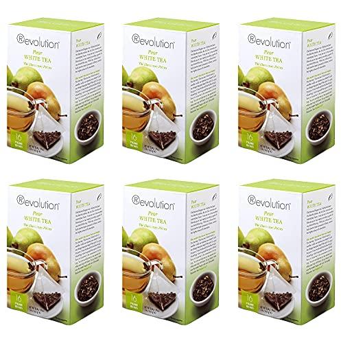 Revolution Tea White Pear Tea, 16-Count Teabags Pack of 6