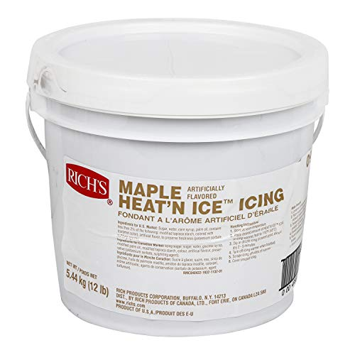Richs Heat N Ice Donut Icing for Donuts, Rolls & More, Maple, ...