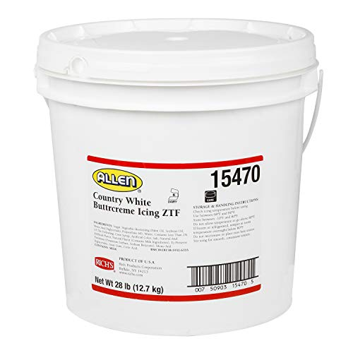 Richs JW Allen Pre-Whipped Buttrcreme Icing ZTF, Country White,...
